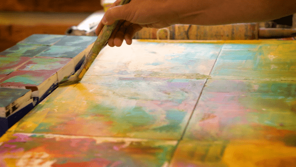 Ginnie Cappaert Painting Egg Harbor